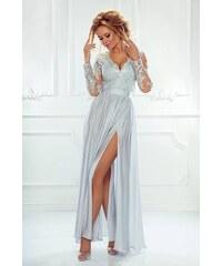 315c763816f EMO Dámské večerní šaty Leila šedé 40