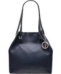 Glamorous by GLAM Dámska kožená kabelka cez rameno ANTONIA - tmavá modrá 25481e3c6ec