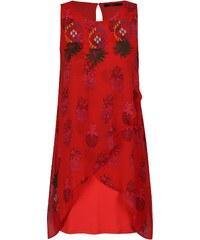 8500f0632288 ... volánovými rukávmi Dorothy Perkins. Veľkosť len L. Detail produktu.  Červené vzorované šaty s výšivkou Desigual Katherina