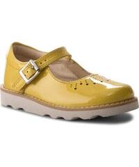 Félcipő CLARKS - Crown Jump 261312196 Yellow Patent 7487e3951d