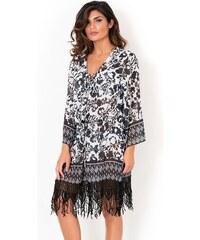 7f100cabf4a Dámské italské plážové šaty David Mare kolekce Peyote černobílá