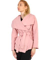 Glara Dámsky kabát s opaskom d5822e1788b