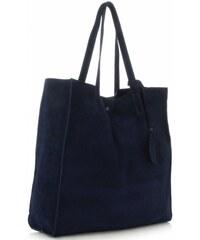 Univerzální Dámské kabelky Vittoria Gotti ShopperBag XXL Tmavě Modrá c26d6dfcb21