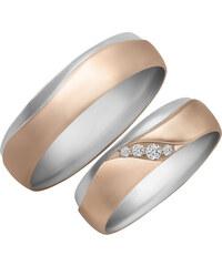 Eppi Svadobné obrúčky z ružového a bieleho zlata s diamantmi Orphne 9788a5d4b80