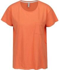Oranžové tričko s rozparkami Blendshe Mal 17274edb162