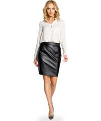 87098432f475 MOE Čierna koženková púzdrová sukňa 015