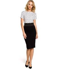 e62a622eeec3 MOE Dámska čierna púzdrová sukňa s elastickým pásom 062