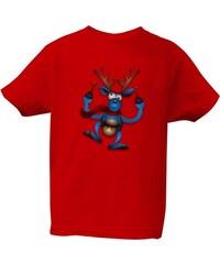 T-shock tričko s potiskem Tričko Vánoční sob dětské 7836bc92e1