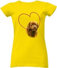 fd70cd0fdeb2 T-shock tričko s potiskem Novofundlandský pes dámské