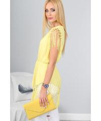 Amando Žltá tunika so strapcami a gumičkou na páse 0dec868bcb7