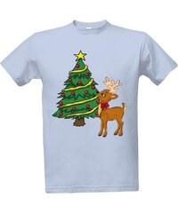 T-shock tričko s potiskem Vánoční triko se sobem a stromkem! pánské. 399 Kč 0d157e3c47