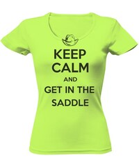 dd6e0f9479d T-shock tričko s potiskem Dámské tričko Keep Calm lime dámské