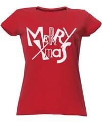 T-shock tričko s potiskem Christmas dámské c3d397e9c8
