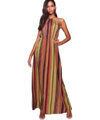 BOOHOO Maxi šaty s prúžkom Rosie a818a8e01c9