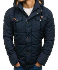 426117c40b47 Tmavomodrá pánska zimná bunda BOLF 1665