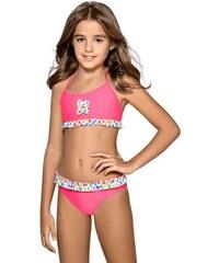 Růžové dívčí plavky - Glami.cz 5104fcceaf