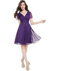 08601792ffb Ever Pretty letní šaty krátké fialové 3882