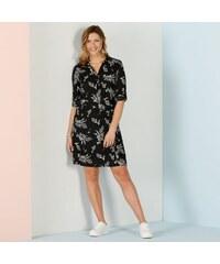 53153eb89c5 Blancheporte Košilové šaty s květy černá bílá