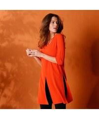 Oranžové šaty s knoflíky na ramínka Blendshe Sersa - Glami.cz ee23bece88