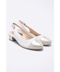 Bílé letní dámské boty na podpatku - Glami.cz e0a3f5749ed