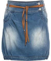bonprix Džínová sukně s páskem 62893f332a