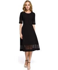 Dámské elegantní šaty MOE 272 černé e08019003e