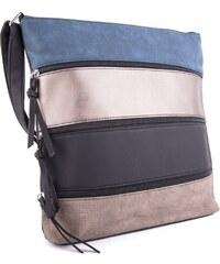 7ffe700bbd Tapple Modro béžovo černá třízipová dámská crossbody kabelka Liduel
