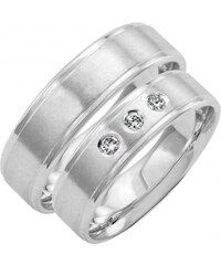 abbb2ab98 Eppi Zlaté svadobné prstene s tromi diamantmi Yassi