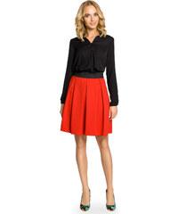 cbcda22c1393 Červená áčková sukňa s pásom na širokú gumu MOE012
