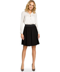 ddf1e24fc75a Čierna áčková sukňa s pásom na širokú gumu MOE012