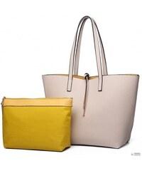 Miss Lulu London LT6628 - Miss Lulu női kifordítható ellentét bevásárló  táska bevásárló táska táska bézs 68f4bdced6
