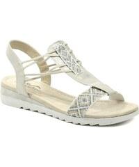 Cortina.be Eveline 5C029z09 perlové dámské sandály na klínu f684e649dd