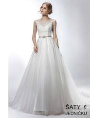 8b480b79353 Helen Fontaine Svatební tylové šaty se zlatým páskem