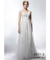 b5b8b754feb Helen Fontaine Svatební korzetové šaty se samostatným náhrdelníkem ...