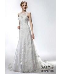 6e9a3cbcae4 Helen Fontaine Svatební tylové šaty s výstřihem do V a živůtkem z ...