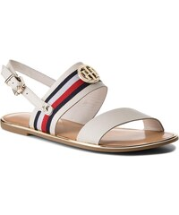 6ab7fe841ce Sandály TOMMY HILFIGER - Corporate Ribbon Flat Sandal FW0FW02811 Whisper  White 121
