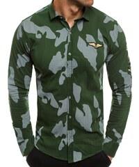 dfdd06b6fb1 OZONEE Zazzoni 1113kz Zelená Pánská Košile