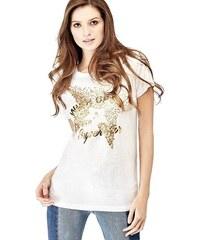 c605f5f8ede0 Guess dámské bílo-zlaté tričko