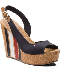 Sandály TOMMY HILFIGER - Wedge With Printed Stripes FW0FW02794 Midnight 403 1fae455a230