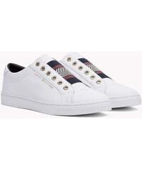 Tommy Hilfiger bílé kožené tenisky Iconic Metallic Elastic Sneaker White e983ecc749