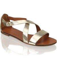 Inblu dámske elegantné sandále s ozdobnými prvkami - zlaté - Glami.sk f6b13da5113