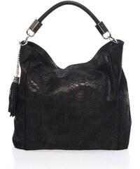 Bonami Čierna kožená kabelka Italia ae0d47a8e86
