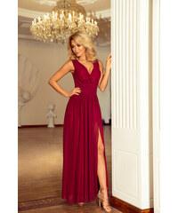 Šaty dámské NUMOCO 166 MAXI 3 burgundy color a61e3d14d3