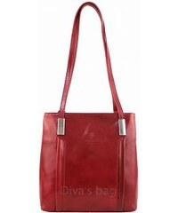 Borse Leather Italy Kabelka batoh Cereta kožená - červená 713e624f9d