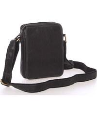 e02efc0b17 Pánska kožená taška na doklady cez rameno čierna - SendiDesign Dumont čierna