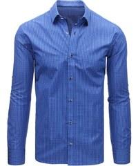 89245265c4fc Modrá pánska košeľa dlhý rukáv rovný strih Tonelli 110911 - Glami.sk