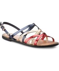 Sandály TOMMY HILFIGER - Metallic Strappy Flat Sandal FW0FW02776 Rwb 020 35528be820