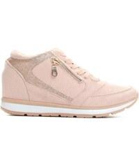 Dámské růžové tenisky na klínku Valleria 8368 396dc01618