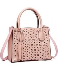 Růžová praktická moderní dámská kabelka Umel 5af2322113