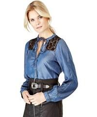 501214a4aae3 Guess dámska džínsová košeľa s čipkou
